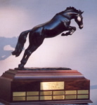 horse sculpture serving as Judgement ISF Perpetual Trophy at the Syracuse Invitational Sporthorse Tournament