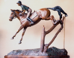 Eventing sculpture : Inspired by 3 Day Eventer Buck Davidson : Taken at Rolex 3-Day Event while exhibiting at show.