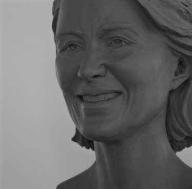 Portrait sculpture : Work in progress : Dr. Ursula von der Leyen